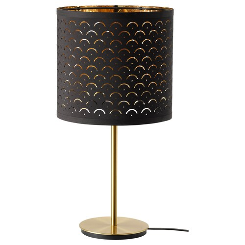 "NYMÖ / SKAFTET lampe de table noir laiton/laiton 9 "" 12 """