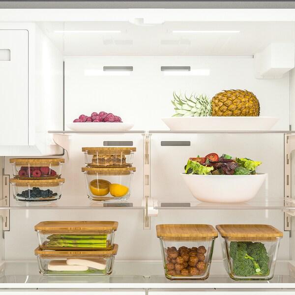 ÖVERSKÅDLIG Réfrigérateur 2 portes, acier inox, 22 cu.ft