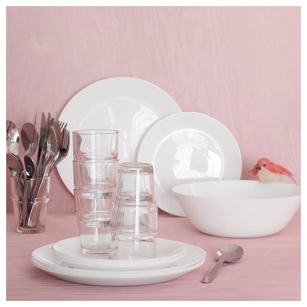 "OFTAST Assiette, blanc, 9 ¾ """