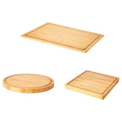 OLEBY Planche à découper, lot de 3, bambou