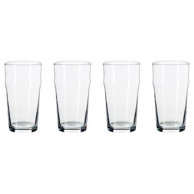 OMFATTANDE verre à bière verre clair 19 oz 4 pièces
