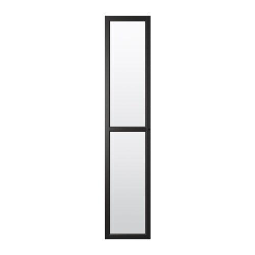 oxberg porte vitr e brun noir ikea. Black Bedroom Furniture Sets. Home Design Ideas