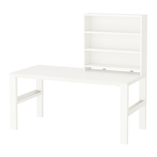 p hl bureau avec tablette blanc ikea. Black Bedroom Furniture Sets. Home Design Ideas