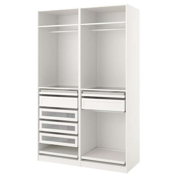 PAX Agencement armoire-penderie, blanc, 59x22 7/8x93 1/8 ""