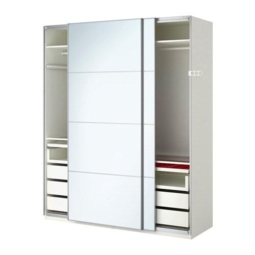 Pax armoire penderie 200x66x236 cm amortisseur pour for Armoire porte coulissante miroir ikea