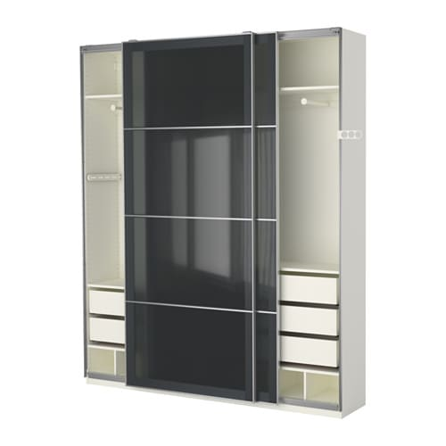pax armoire penderie 200x44x236 cm ikea. Black Bedroom Furniture Sets. Home Design Ideas