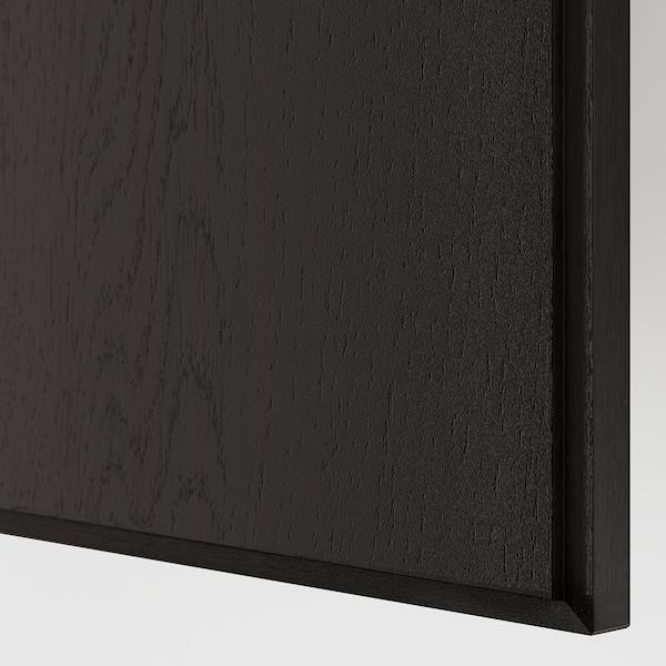 """PAX Armoire-penderie, effet frêne teinté brun-noir/Repvåg chêne plaqué teinté brun-noir, 78 3/4x23 5/8x79 1/4 """""""