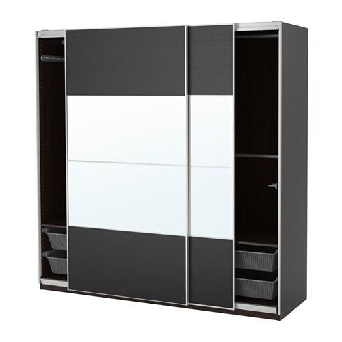 Pax armoire penderie 200x66x201 cm amortisseur pour for Armoire penderie 3 portes coulissantes
