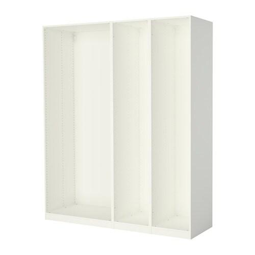 Pax 3 caissons armoire blanc ikea - Profondeur caisson ikea ...