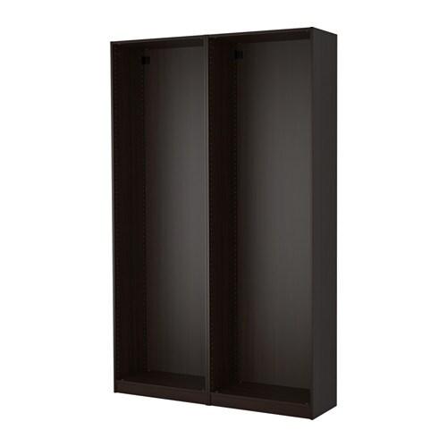 pax 2 caissons armoire brun noir ikea. Black Bedroom Furniture Sets. Home Design Ideas