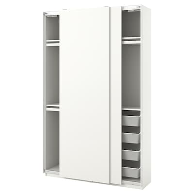 "PAX / HASVIK Agencement armoire-penderie, blanc, 59x17 3/8x93 1/8 """