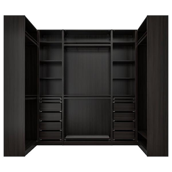 """PAX Penderie d'angle, brun-noir, 44 1/2/108 5/8/44 1/2x93 1/8 """""""