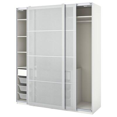 """PAX / SVARTISDAL Agencement armoire-penderie, blanc blanc/effet papier, 78 3/4x26x93 1/8 """""""