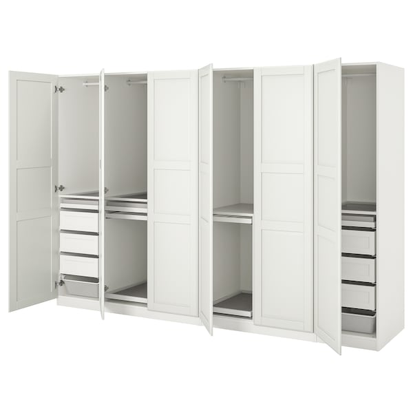 PAX / TYSSEDAL Agencement armoire-penderie, blanc/blanc, 118 1/8x23 5/8x79 1/4 ""