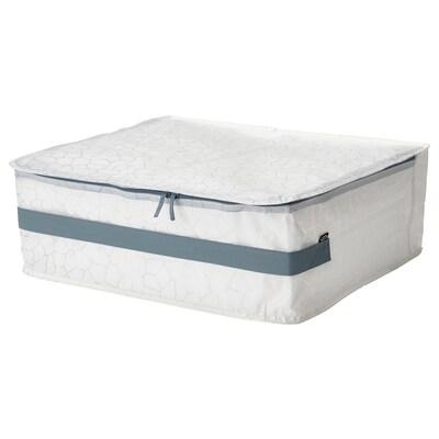 """PLUGGHÄST Boîte-tiroir, à motifs blanc/transparent, 22x19x7 """""""
