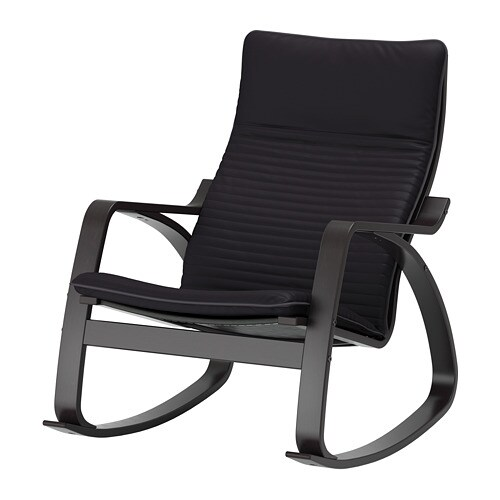 Po ng chaise ber ante knisa noir ikea - Chaise noire ikea ...