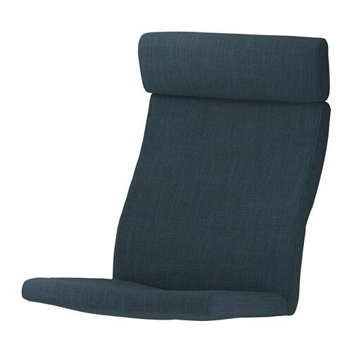 po ng coussin fauteuil hillared bleu fonc ikea. Black Bedroom Furniture Sets. Home Design Ideas