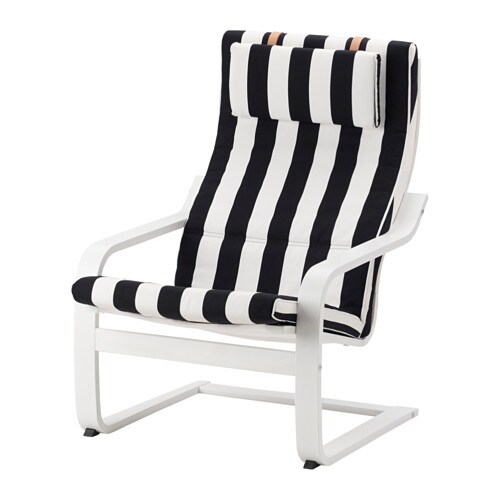 Po ng fauteuil stenli noir blanc ikea - Fauteuil blanc ikea ...