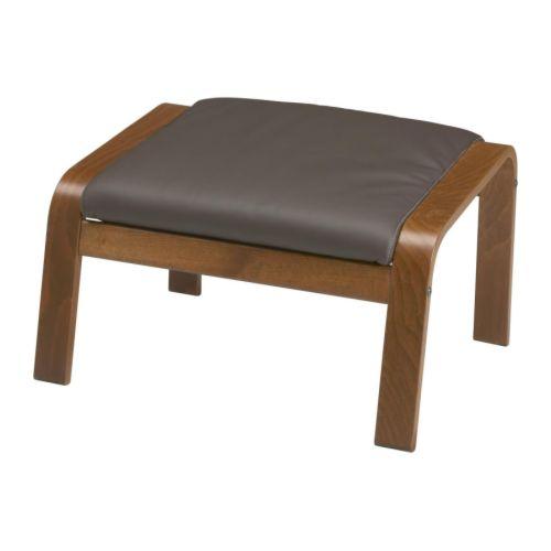 po ng repose pieds glose brun fonc ikea. Black Bedroom Furniture Sets. Home Design Ideas