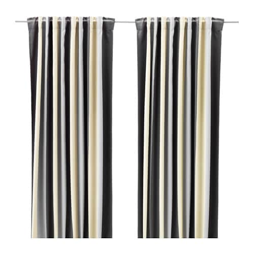 praktlilja rideaux opaques 2 panneaux ikea. Black Bedroom Furniture Sets. Home Design Ideas