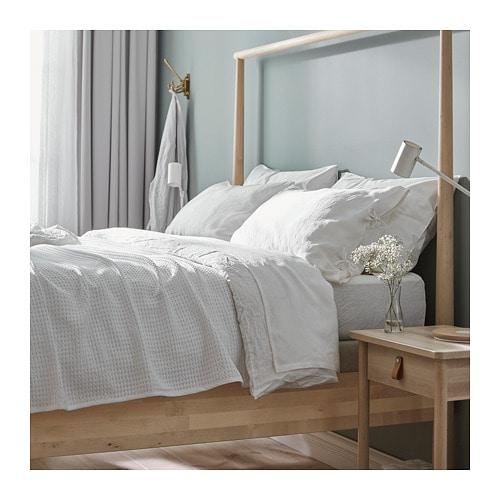 puderviva housse de couette et taie s deux places grand deux places ikea. Black Bedroom Furniture Sets. Home Design Ideas