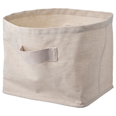 "PURRPINGLA Corbeille, textile/beige, 11 ¾x9 ¾x9 ¾ """