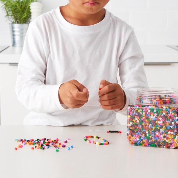 """PYSSLA perles multicolore 5 """" 7 """" 1 lb 5 oz"""