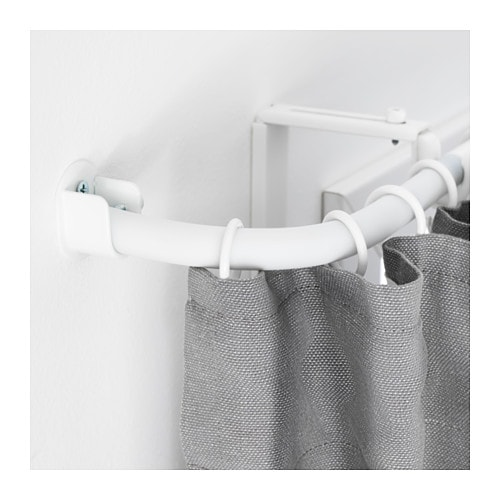 R cka tringle rideau raccord d 39 angle blanc ikea - Support tringle rideau ikea ...