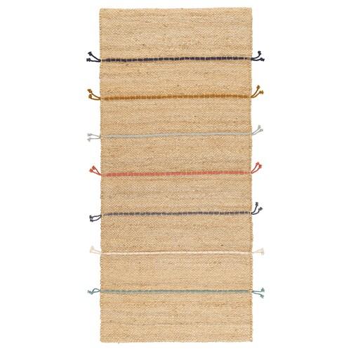"""RAKLEV tapis tissé plat fait main écru/multicolore 5 ' 3 """" 2 ' 4 """" ¼ """" 12.06 pied carré 7.86 oz/sq ft"""