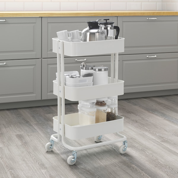 """RÅSKOG Desserte, blanc, 13 3/4x17 3/4x30 3/4 """""""