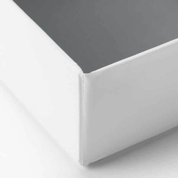 "RASSLA Boîte compartimentée, blanc, 9 ¾x16 ¼x3 ½ """