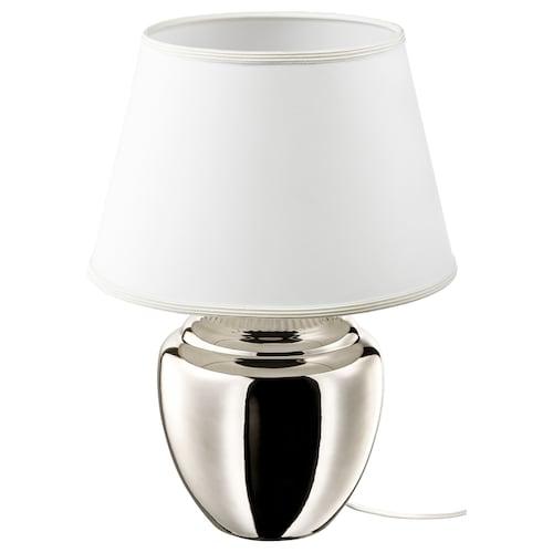 """RICKARUM lampe de table gris argent 13 W 13 """" 19 """" 13 """" 4 """" 7 ' 3 """""""