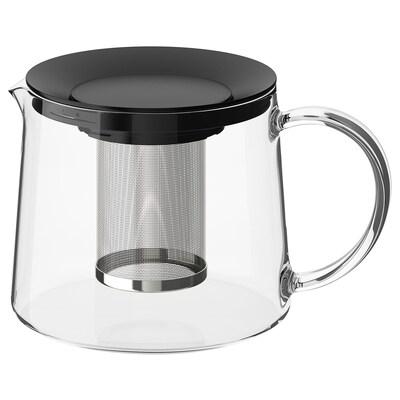 RIKLIG Théière, verre, 1.6 qt