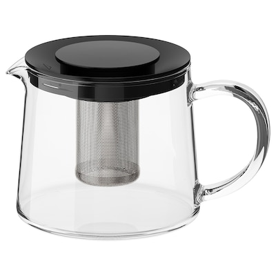 RIKLIG Théière, verre, 0.6 qt