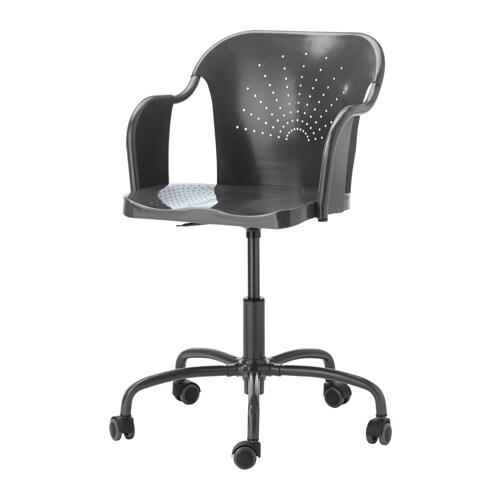 Roberget chaise pivotante gris ikea for Chaise pivotante