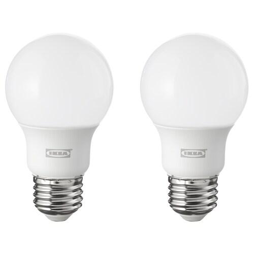 RYET ampoule à DEL E26 600 lumen sphérique opalin 2700 K 600 lm 6.0 W 2 pièces