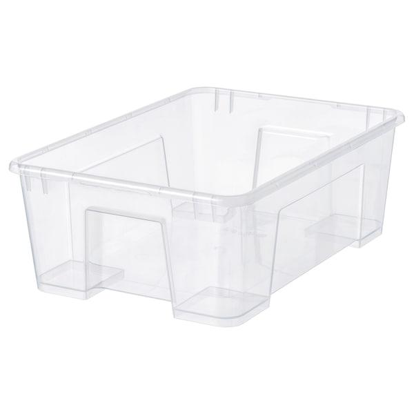 "SAMLA Boîte, transparent, 15 ¼x11x5 ½ ""/3 gallon"
