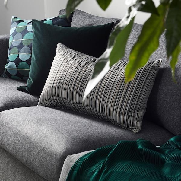 """SANELA Housse de coussin, vert foncé, 20x20 """""""