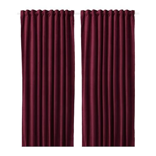 Sanela Rideaux Opaques 2 Panneaux 140x300 Cm Ikea