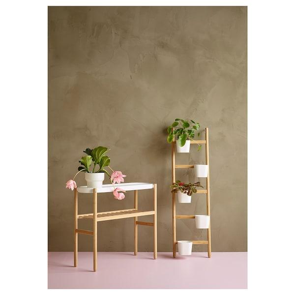 "SATSUMAS Jardinière, bambou/blanc, 27 ½ """