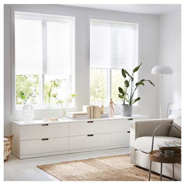 """SCHOTTIS Store plissé, blanc, 35 ½x74 ¾ """""""