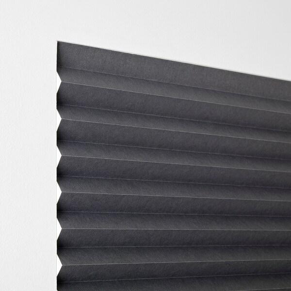 """SCHOTTIS Store plissé opaque, gris foncé, 39 ¼x74 ¾ """""""