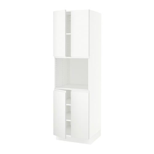 sektion arm hte micro ondes 4 ptes blanc voxtorp blanc mat 24x24x80 ikea. Black Bedroom Furniture Sets. Home Design Ideas