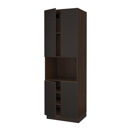 sektion arm hte micro ondes 4 ptes effet bois brun kungsbacka anthracite 30x24x90 ikea. Black Bedroom Furniture Sets. Home Design Ideas
