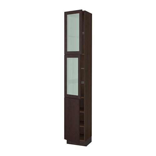 sektion arm hte 2 ptes vitr 1 pte effet bois brun ekestad brun 15x15x90 ikea. Black Bedroom Furniture Sets. Home Design Ideas