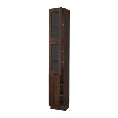 sektion arm hte 2 ptes vitr 1 pte effet bois brun edserum effet bois brun 15x15x90 ikea. Black Bedroom Furniture Sets. Home Design Ideas