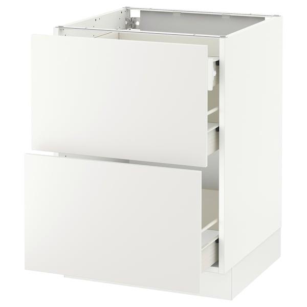"SEKTION Arm inf 2 faces/3 tiroirs, blanc Förvara/Häggeby blanc, 24x24x30 """