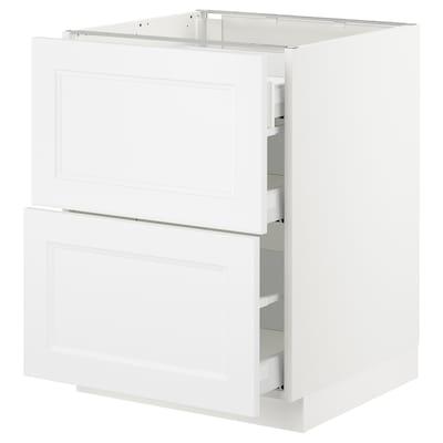"SEKTION Arm inf 2 faces/3 tiroirs, blanc Maximera/Axstad blanc mat, 24x24x30 """