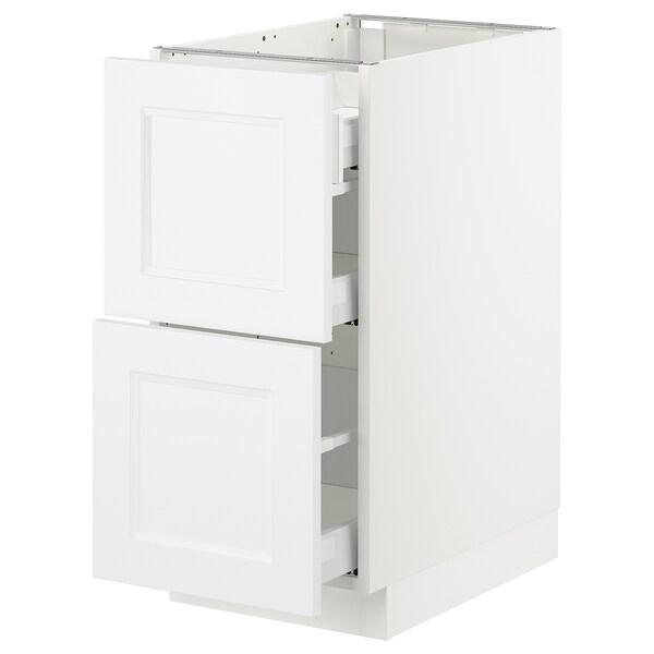 "SEKTION Arm inf 2 faces/3 tiroirs, blanc Maximera/Axstad blanc mat, 15x24x30 """