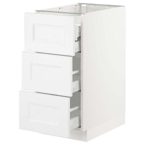 "SEKTION Arm inf 3 faces/4 tiroirs, blanc Maximera/Axstad blanc mat, 15x24x30 """
